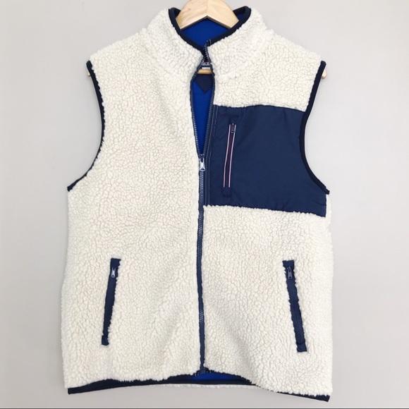 bb938dff6 Tommy Hilfiger Sherpa Faux Fur Casual Zip Vest M